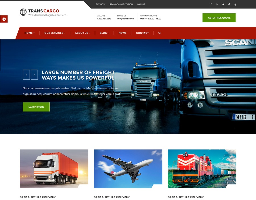 Transport Company Website | WebSitesDesign